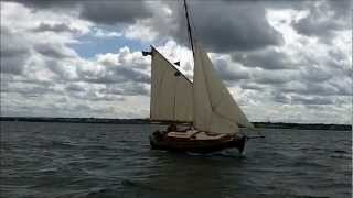Sailing Classic Gaff Rigged Cutter Emma & Kate Back into Blyth