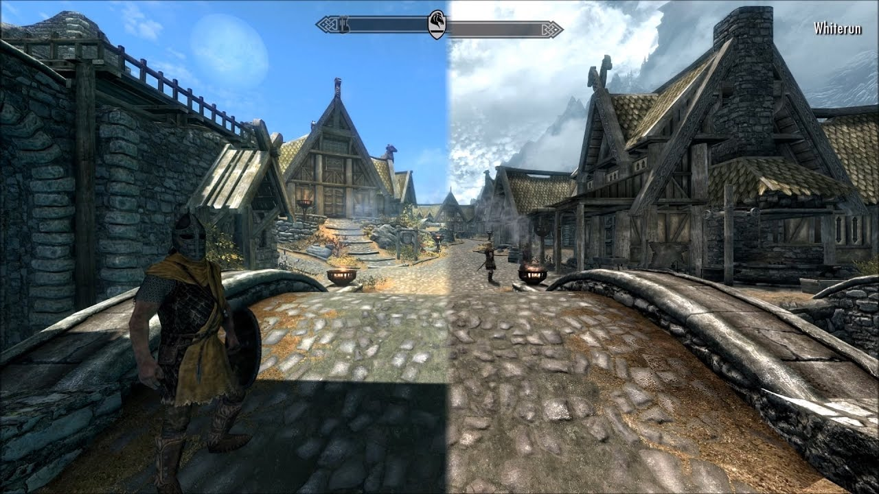 Skyrim: Legendary Edition vs  Skyrim: Special Edition Graphics Comparison  (PC)