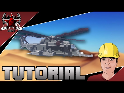 Minecraft: Modern Sikorsky MH-53 Pave Low Heavy-Lift Helicopter Tutorial