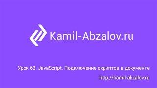 Урок 63. JavaScript. Подключение скриптов в документе