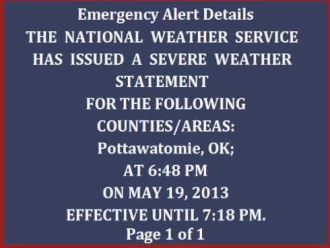 An EAS Timeline of the 5/19/13 Shawnee Tornado