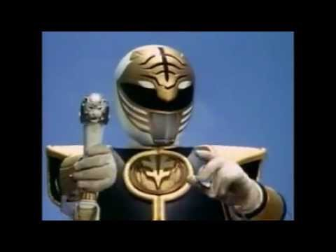 Mighty Morphin Power Rangers White Tiger Zord and Mega Tigerzord