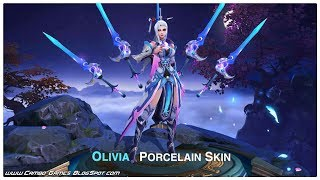 Heroes Arena 5v5: New Skin - Porcelain (Olivia) Gameplay Android/iOS