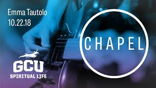 GCU Chapel with Emma Tautolo of Athletes in Action Oct 22, 2018