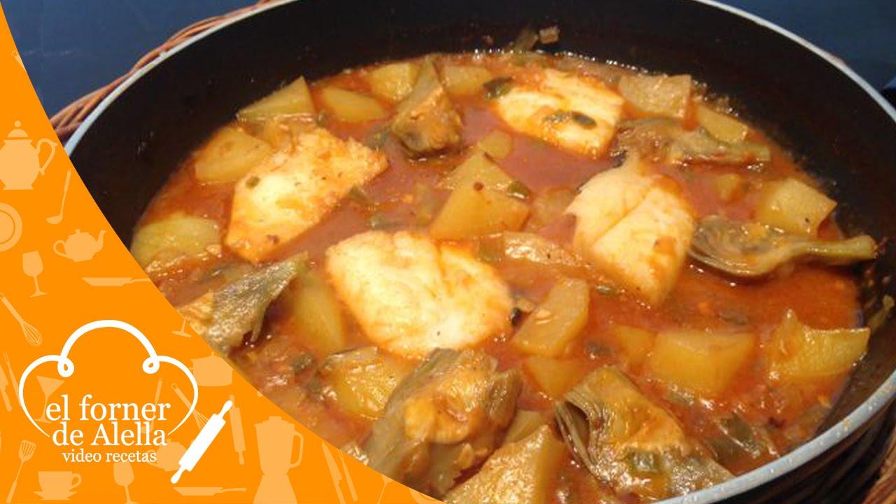 Bacalao con patatas y alcachofas youtube for Cocina bacalao con patatas