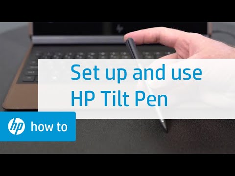 Set Up and Use the HP Tilt Pen | HP Accessories | @HPSupport