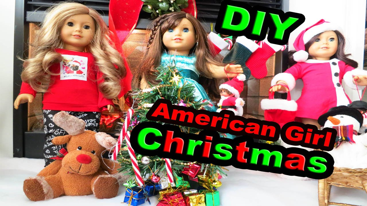 DIY American Girl Doll Christmas Fireplace Santa Dress Justice PJs ...