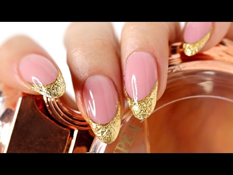 ♡ How to: Gold Foiled French Manicure Gelnails