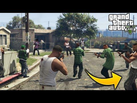 ¿Que Pasa Si Llevamos a CJ y su Grove Street Familie Con Los Ballas Ex Barrio de Cj GTA 5?