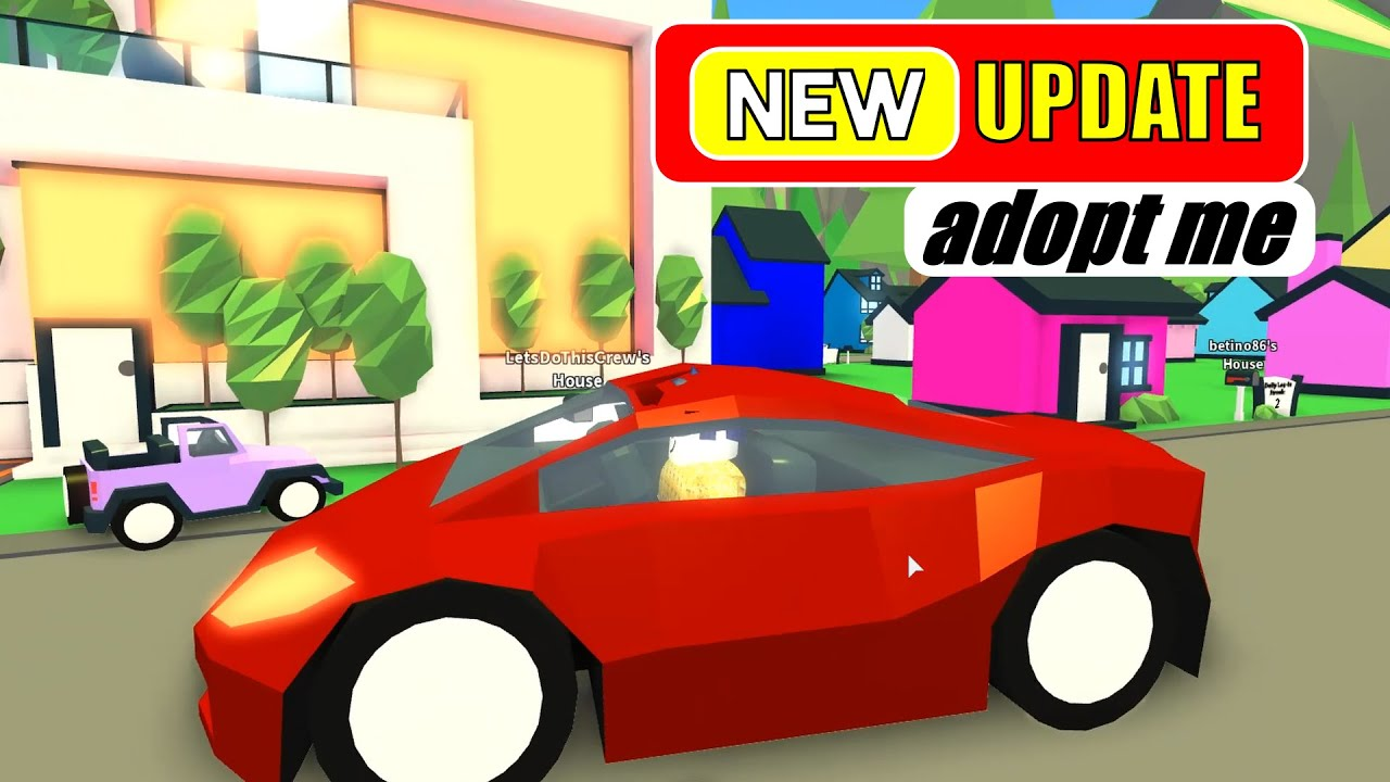 Adopt Me Update New Millionaire House And Super Car Roblox Youtube