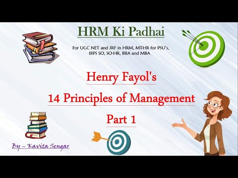 Henry Fayol's 14 Principles Of Management Part 1