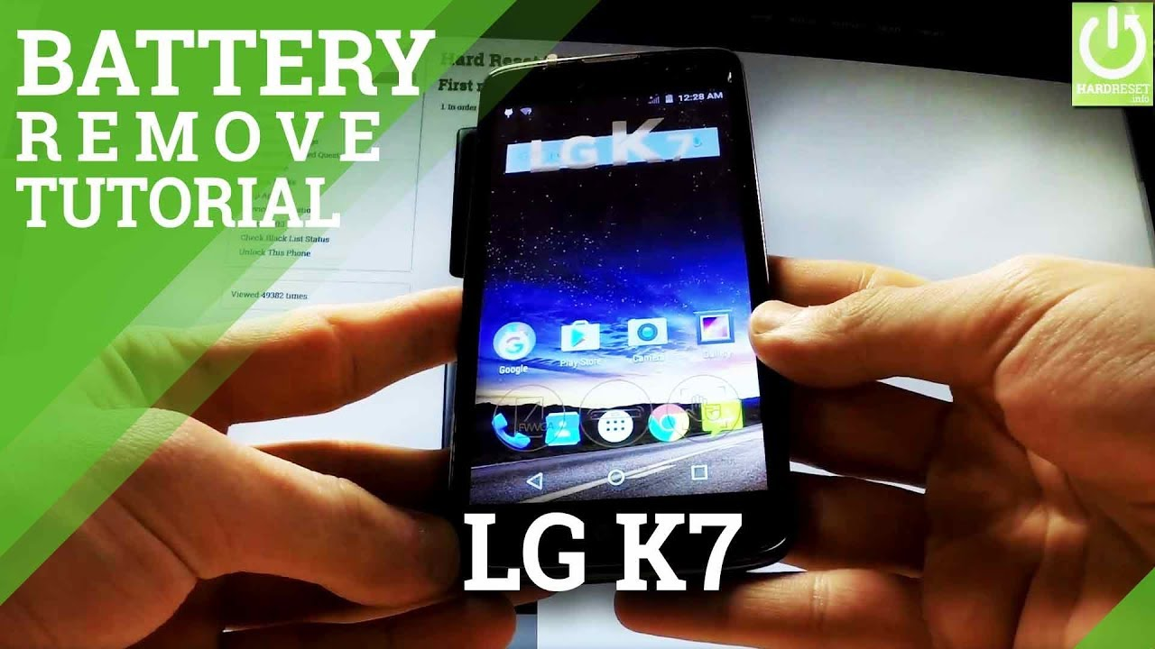 How to Replace Battery and Remove Back Cover in LG K7