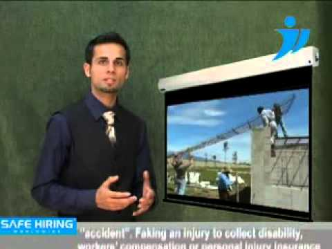 Insurance claim frauds investigation services SafeHiringWorldwide videos