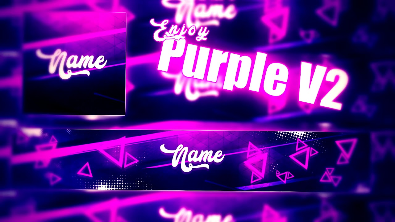 Purple v2 youtube banner template logo banner free download youtube - Youtube banner pictures ...
