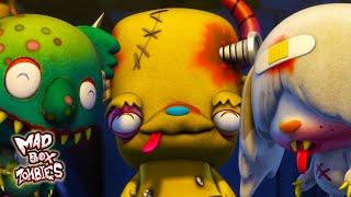 Animasi zombie lucu Mince Terkena Flu Mad Box Zombies