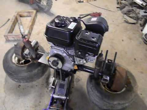 Golf Cart engine swap, stretch, Lift and 3 to 4 wheel conversion pt 5  YouTube