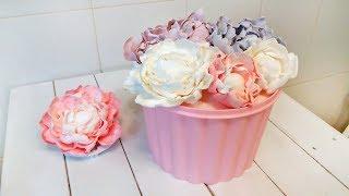 быстрый цветок на торт  Пошагово. Нежный ПИОН (Моя флористика) / How to Make Sugar Flowers