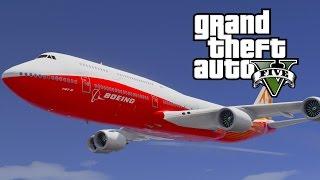 GTA V Boeing 747-8i Jumbo Jet (MOD)