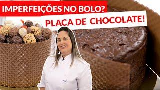COMO DECORAR UM BOLO COM PLACA DE TEXTURA PARA CHOCOLATE BWB - LOJA SANTO ANTONIO