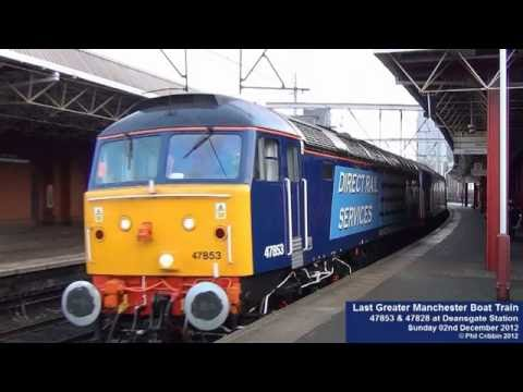The Last Greater Manchester Boat Train - 02nd December 2012