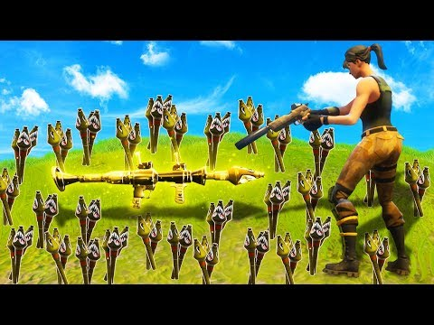 100+ LEGENDARY RPG ROCKETS Vs. 98 ENEMIES! (Fortnite: Battle Royale)