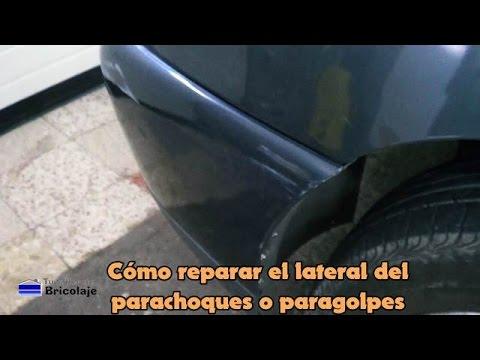 C mo reparar el lateral del parachoques o paragolpes youtube for Como pegar plastico