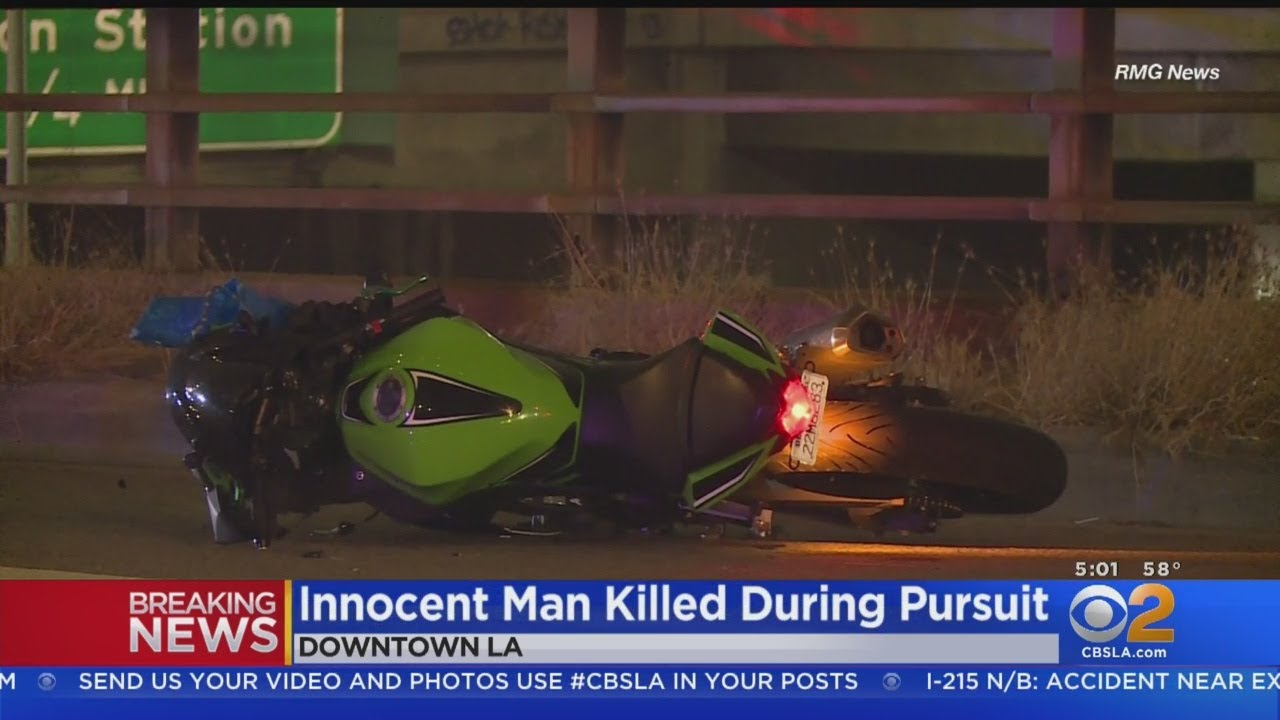 Pedestrian Hit and Killed by Motorcycle in Police Pursuit on Main