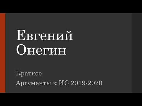 Евгений Онегин как универсальное произведение для аргументов к ИС 2019