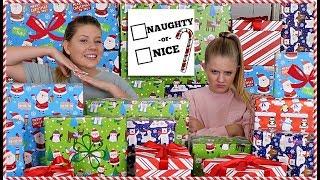Naughty or Nice Christmas Present Challenge| Holiday Challenge 2018 | Taylor and Vanessa