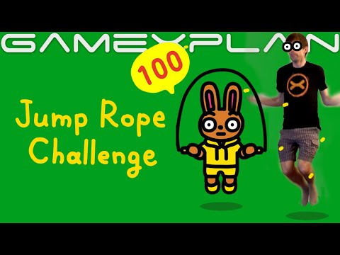 We Try Jump Rope Challenge; Nintendo's FREE Fitness Game on Switch!