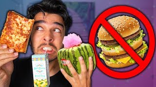 I Only Ate SQUARE SHAPED Foods for 24 Hours! (IMPOSSIBLE FOOD CHALLENGE)