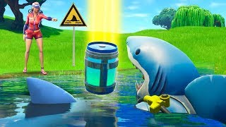 Pretending To Be A Shark in Fortnite Battle Royale!
