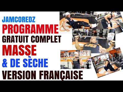 Programme JamCore OFFERT  | MASSE & SÈCHE | Version FRANÇAISE