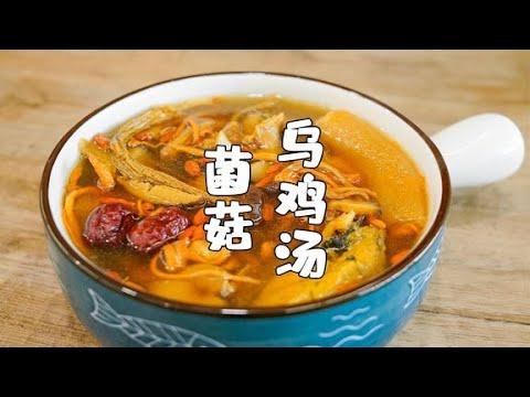 菌菇乌鸡汤,做法简单营养好,味道非常鲜美【山哥山嫂】