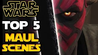 Star Wars - Top 5 Darth Maul Scenes of all Time - CANNON (Movies & T.V. Series) Chronological Order