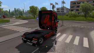 (Ets2 1.28)Scania V8 Open Pipe Sound R500