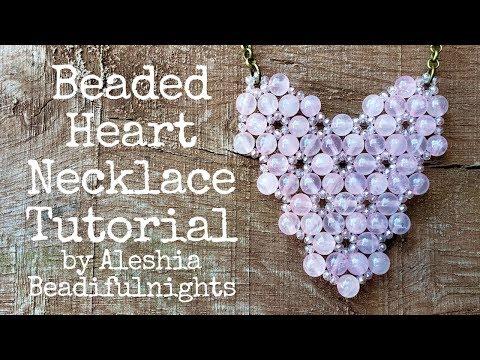 Beaded Heart Necklace Tutorial