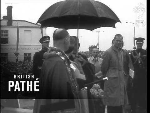 Royal Visit To Lincoln, Scunthorpe & Grimsby (1958)