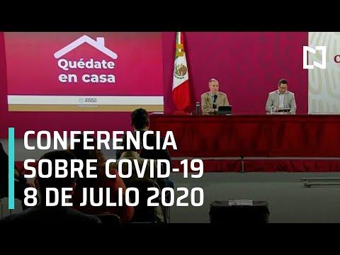Conferencia Covid-19 en México - 8 julio 2020