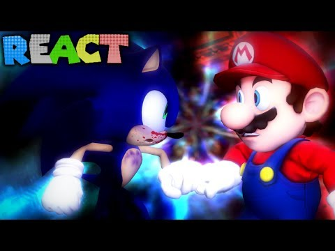 LUIGIKID REACTS TO: SUPER MARIO VS. SONIC THE HEDGEHOG - VIDEO GAME RAP BATTLE