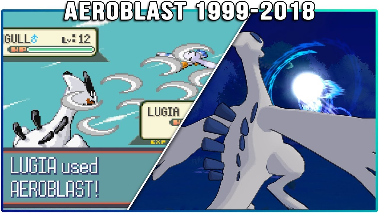 Evolution of Lugia's Aeroblast - Pokémon Moves (1999-2018)