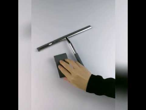 Stainless steel shower squeegee with Hook for mirror glass window clean