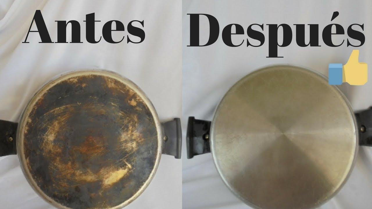 ¿Cómo limpiar las ollas por fuera?
