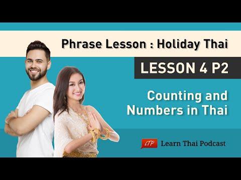 Holiday Thai Language Lesson 4 p2: Thai Numbers 2