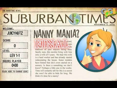 Nanny Mania - Gameplay Final Part (Level 10-1 To 10-5)