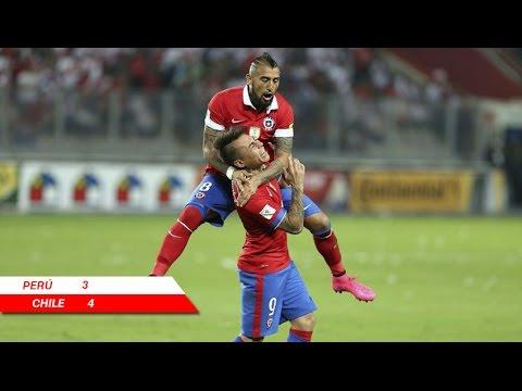 Perú 3 - 4 Chile   Eliminatorias Rusia 2018   Claudio Palma