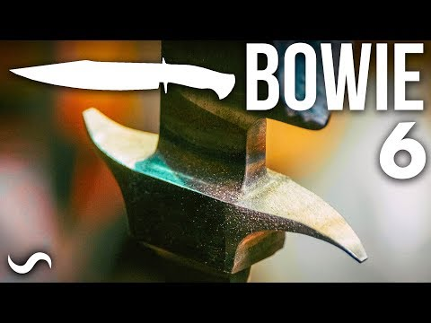 MAKING A BOWIE KNIFE WITH TWIST DAMASCUS!!! Part 6
