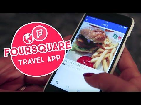 Foursquare Travel App (Arabic) | تطبيق مفيد للسفر