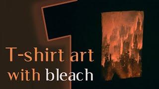 Abandoned City - t-shirt art with bleach || Lynx Den