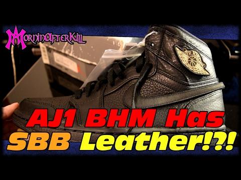 SBB Leather On Air Jordan 1 Black History Month!?!? Air Jordan Retro 1 Black History Month Review!!!